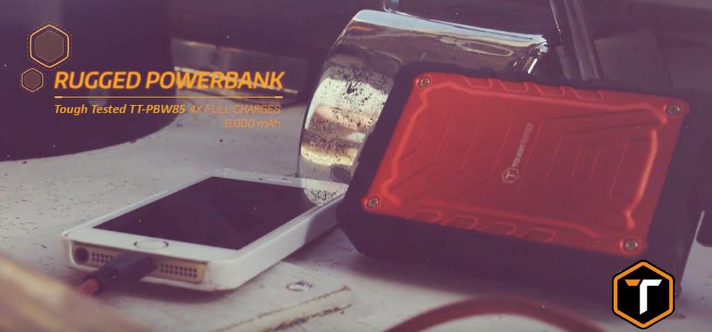 Tough Tested TT-PBW85 8000mAh Power Bank شارژر همراه تاف تستد مدل TT-PBW85 با ظرفیت 8000 میلیآمپرساعت