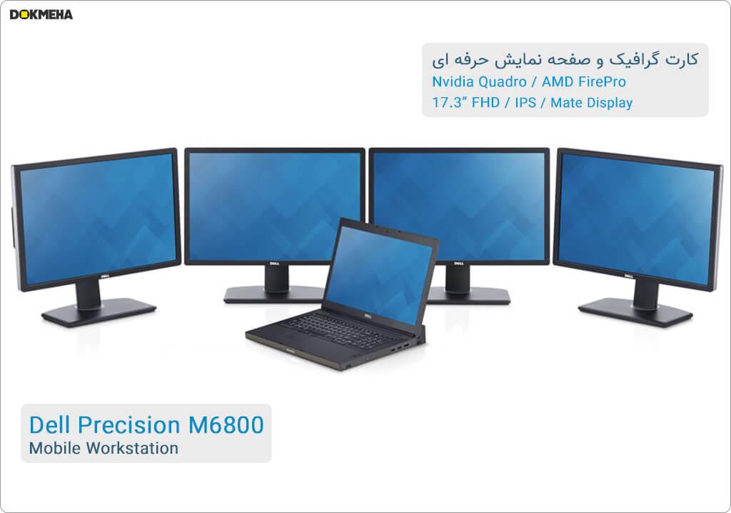 لپتاپ ورکاستیشن دل پرسیشن Dell Precision M6800 Mobile Workstation