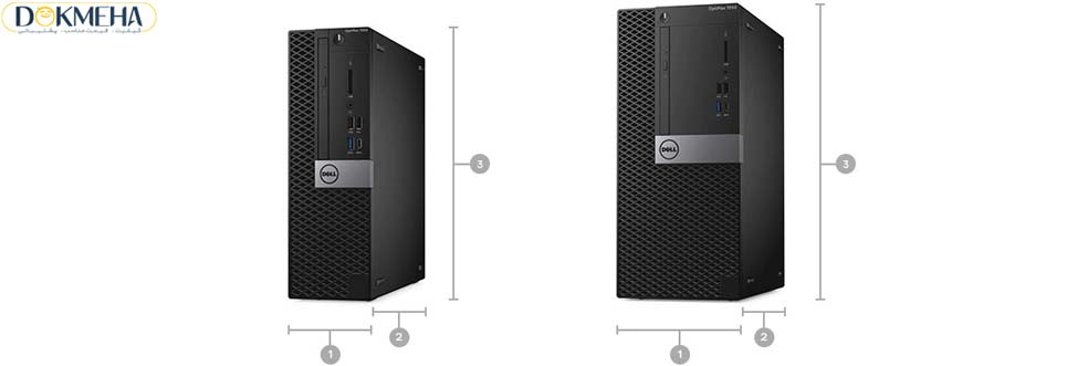 کیس دسکتاپ دل Dell Optiplex 7050 SFF i7 7th Gen