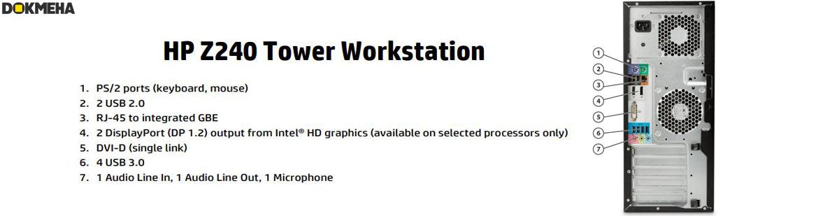 کیس ورک استیشن HP Z240 Tower Xeon Workstation 24