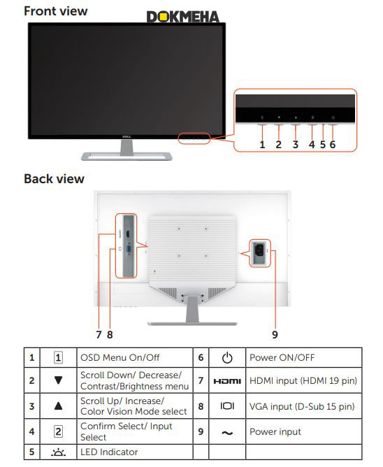 Monitor Dell LED D3218HN