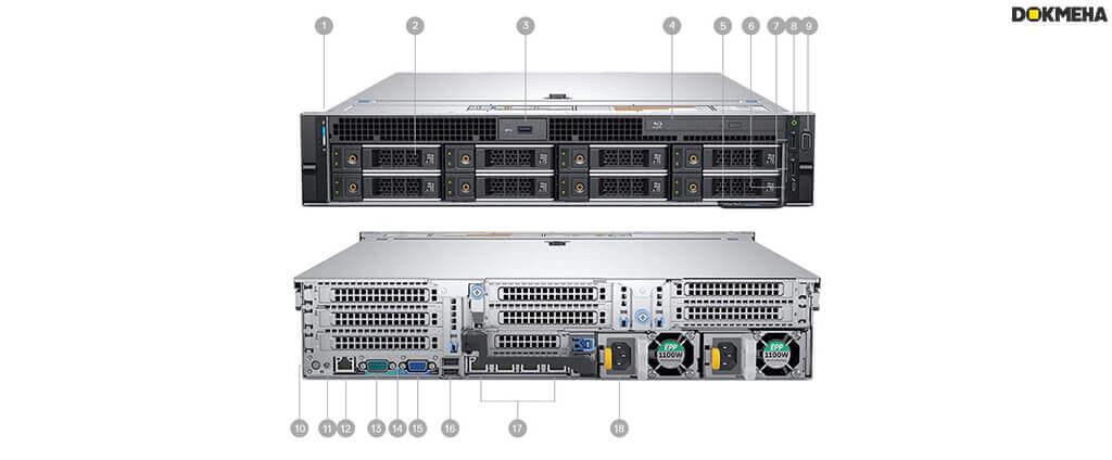 رک ورک استیشن دل Dell Precision Rack 7920