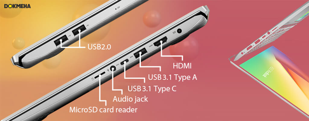 پورت و اتصالات در Asus Vivobook S15