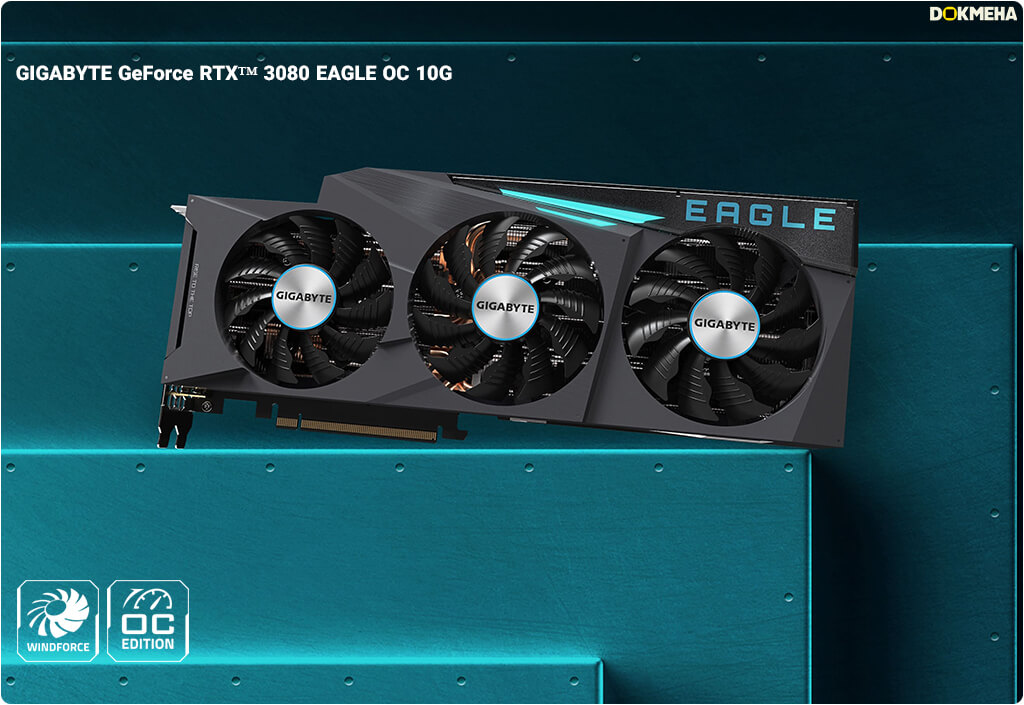 کارت گرافیک GIGABYTE GeForce RTX 3080 EAGLE OC 10G