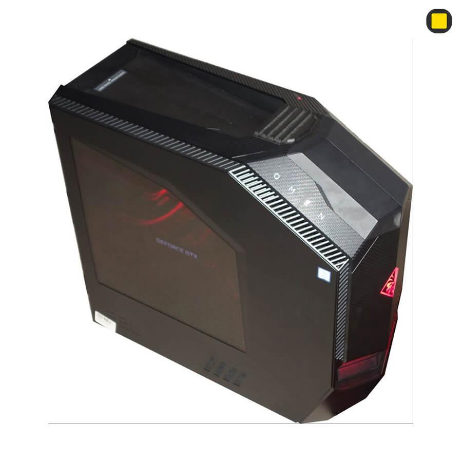 کیس گیمینگ اچ پی اومن HP OMEN Desktop 880-190 نمای جانبی جلو