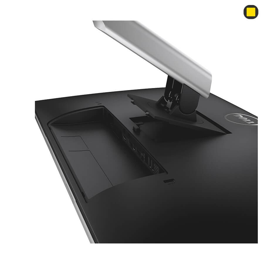 مانیتور دل 27 اینچ Dell P2715Q UHD 4K نمای پشت زیر سمت چپ و اتصال پایه
