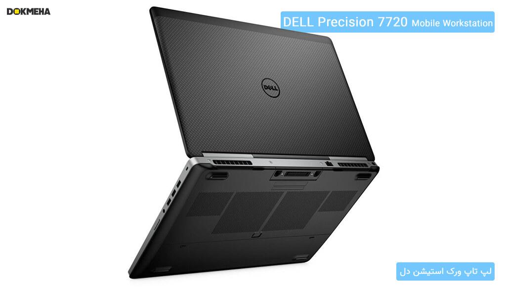 نمای پشتی از وضعیت ایستاده لپتاپ ورکاستیشن دل پرسیشن Dell Precision 17 7720