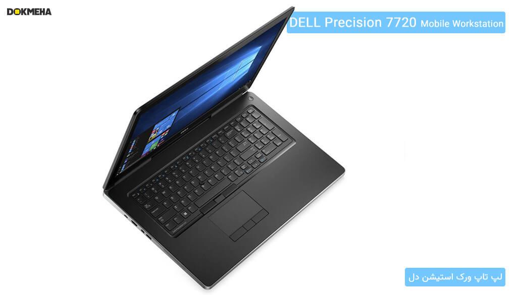 نمای بالا از لپتاپ ورکاستیشن دل پرسیشن Dell Precision 17 7720