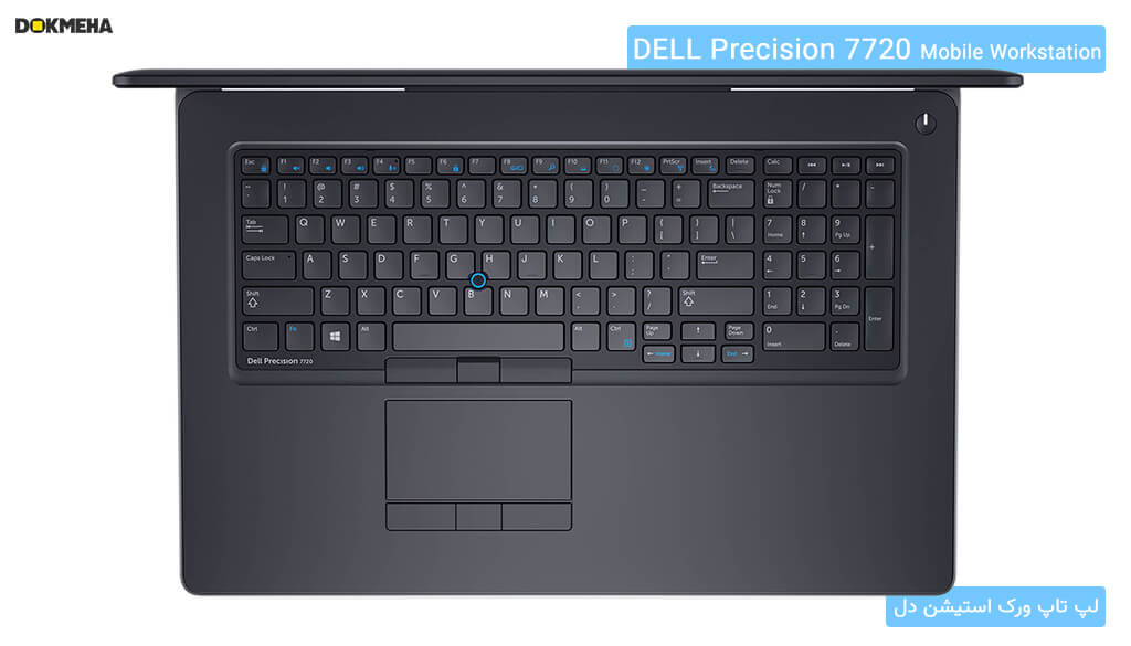 کیبورد کامل لپتاپ ورکاستیشن دل پرسیشن Dell Precision 17 7720