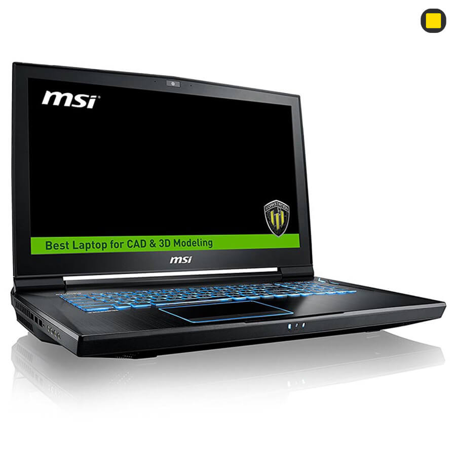 لپتاپ ورکاستیشن ام اس آی MSI Workstation WT73VR-7RM نمای جانبی چپ روبرو