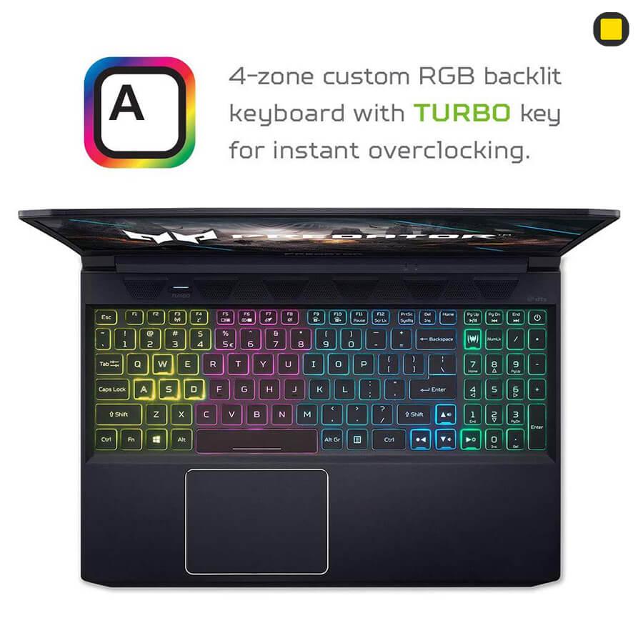 لپ تاپ گیمینگ Acer Predator Triton 300 PT315-52-73WT