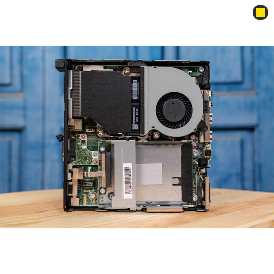 کیس اچ پی الیت دسک مینی P-EliteDesk-800-G4-Desktop-Mini-Business-PC نمای داخلی و خنک کننده