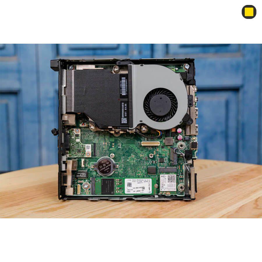 کیس اچ پی الیت دسک مینی P-EliteDesk-800-G4-Desktop-Mini-Business-PC نمای داخلی و خنک کننده بدون هارد