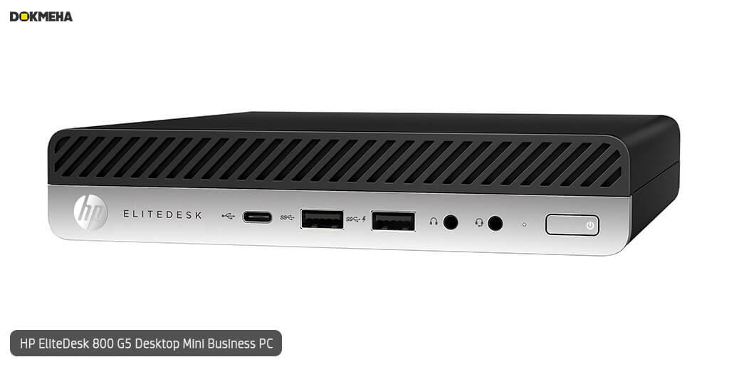 کیس اچ پی الیت دسک مینی P-EliteDesk-800-G5-Desktop-Mini-Business-PC نمای روبرو راست