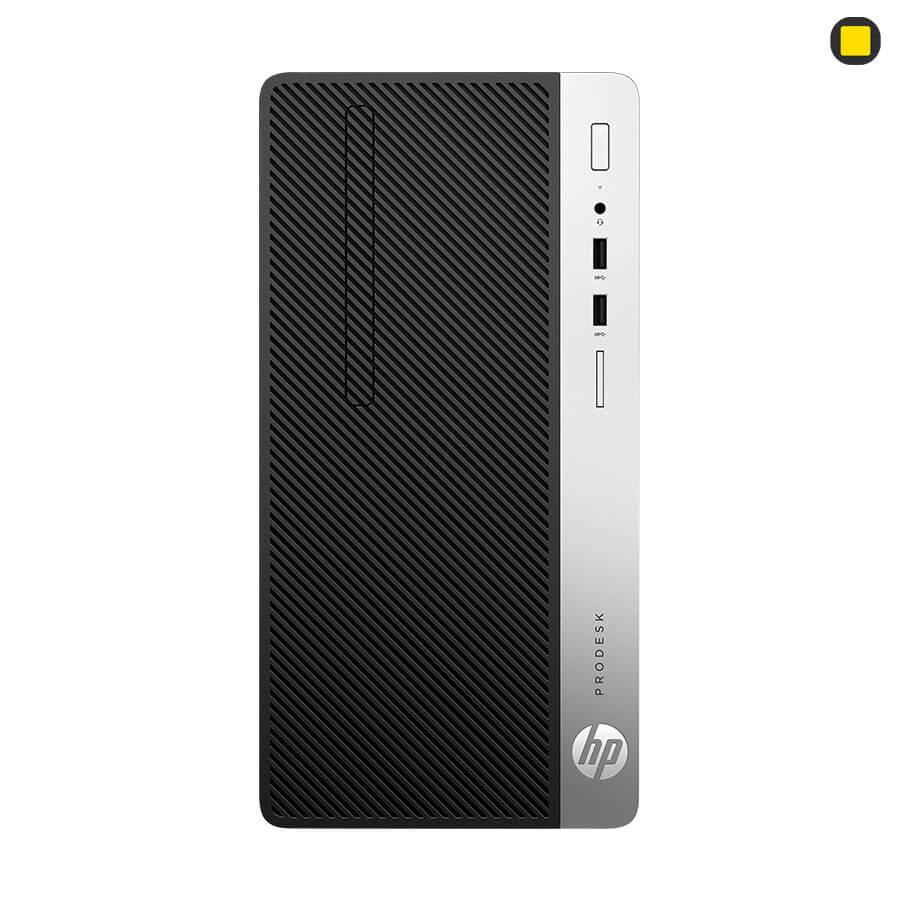 کیس اچ پی پرو دسک HP ProDesk 400 G6 Microtower PC روبرو و پورتها