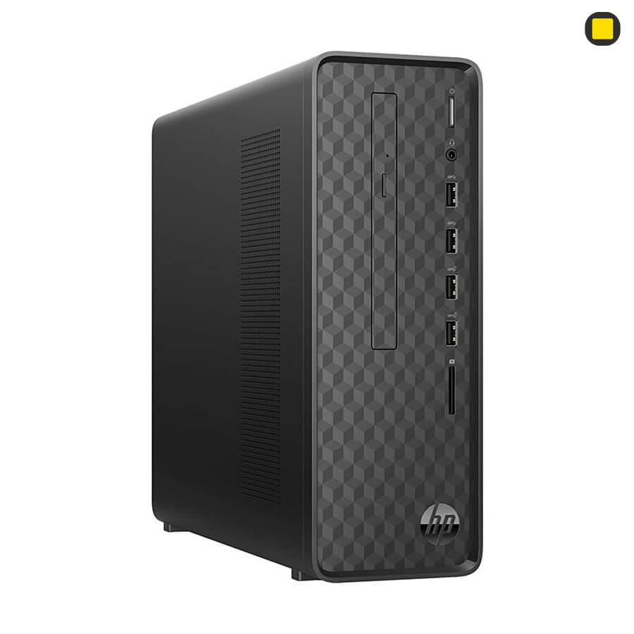 کیس اچ پی پرو دسک HP-Slim-Desktop-S01 نمای روبرو سمت چپ