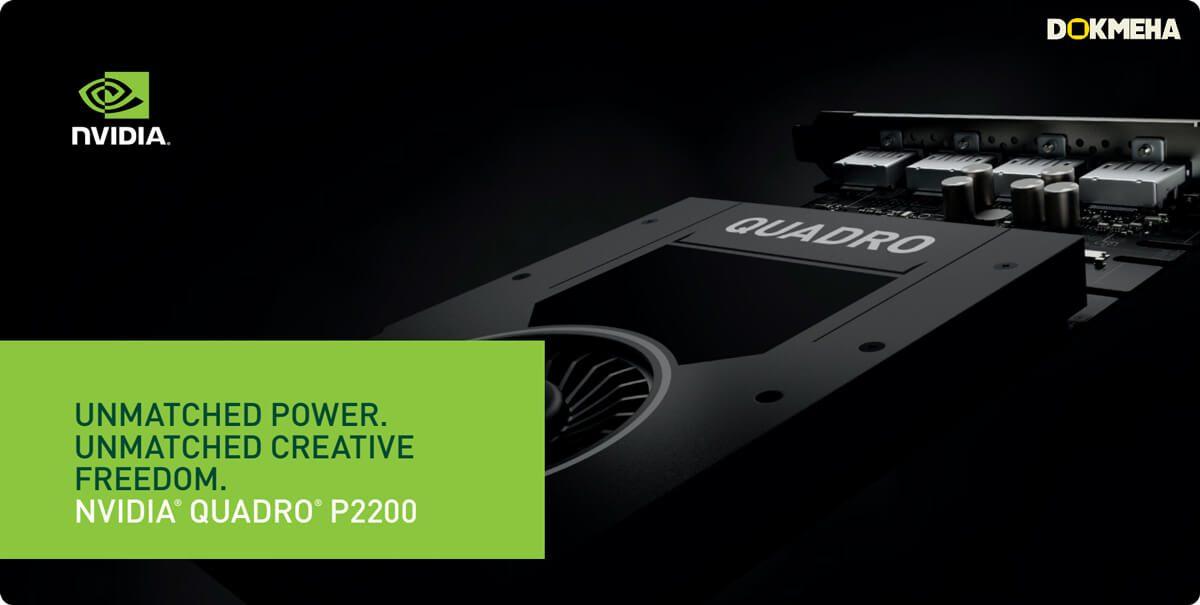 کارت گرافیک Nvidia PNY Quadro P2200 5GB GDDR5X نمای پرسپکتیو از بالا سمت چپ