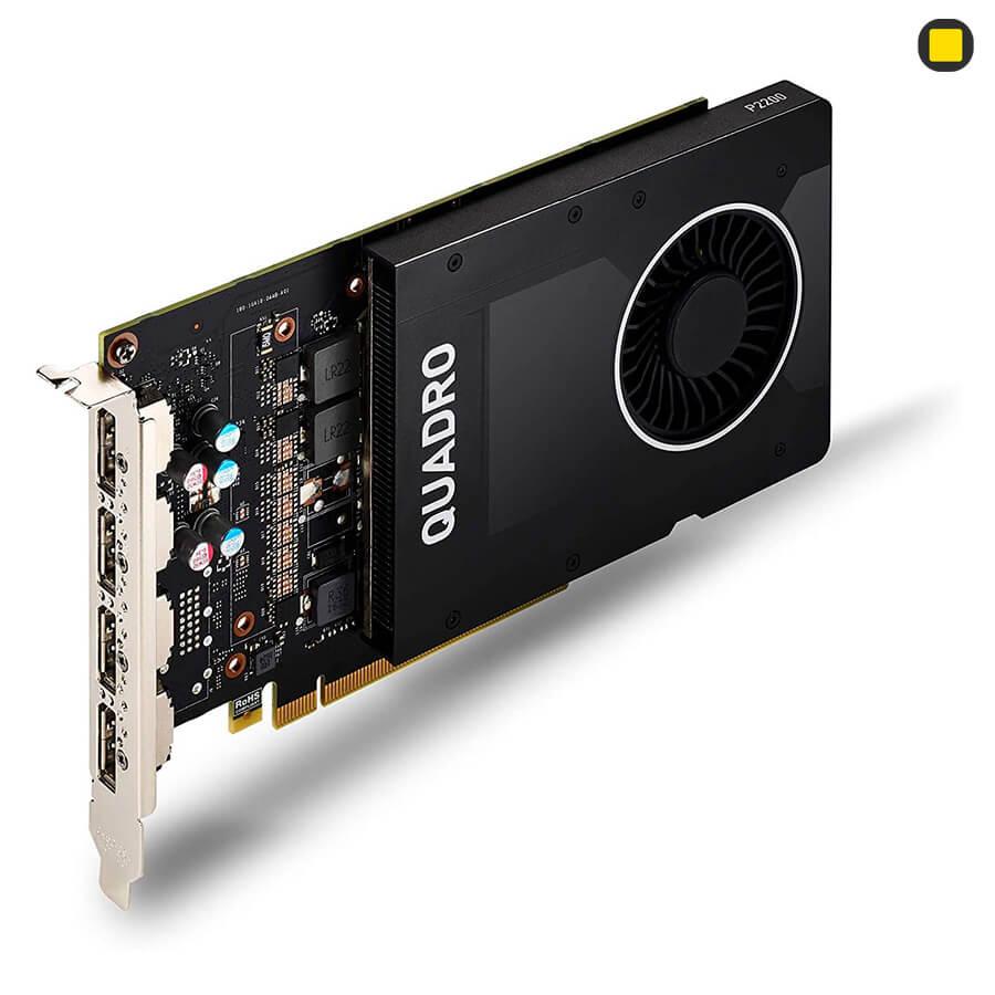 کارت گرافیک Nvidia PNY Quadro P2200 5GB GDDR5X نمایپرسپکتیو روی کارت