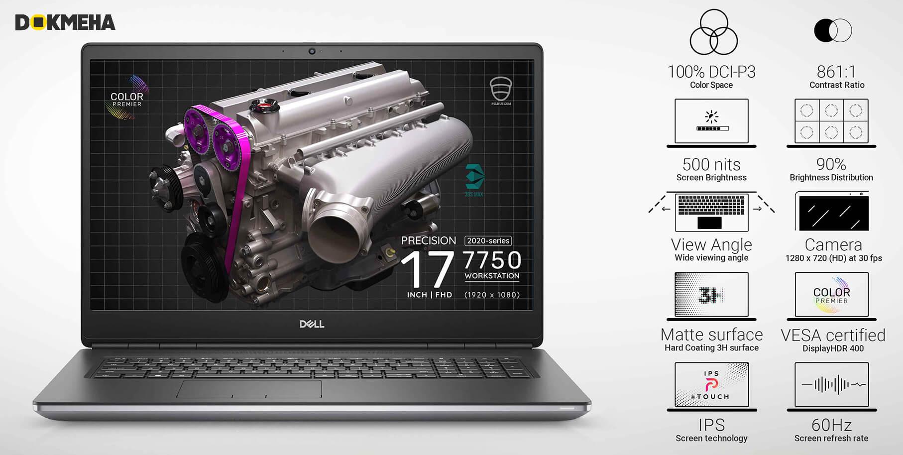 لپ تاپ دل Dell Precision 17 7750