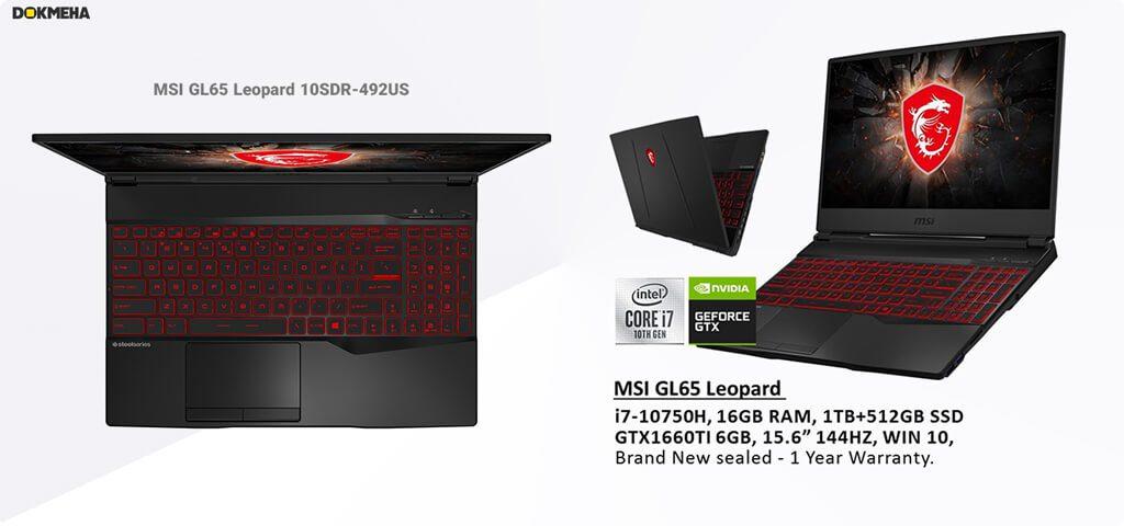 لپ تاپ MSI GL65 Leopard 10SDR-492US