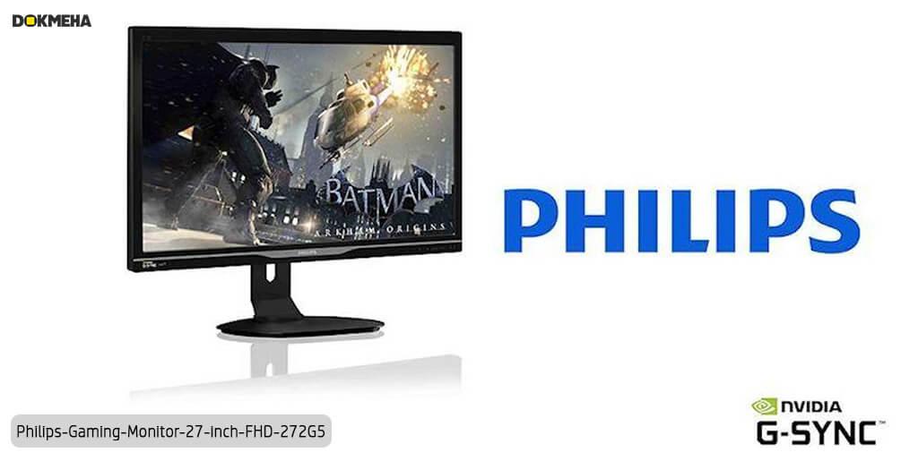 مانیتور گیمینگ فیلیپس ۲۷ اینچی philips-Gaming-Monitor-27-inch-fhd-272g5 نمای پرسپکتیو از سمت چپ