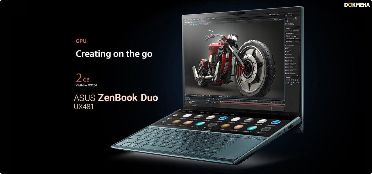 لپ تاپ ایسوس ASUS ZenBook Duo UX481