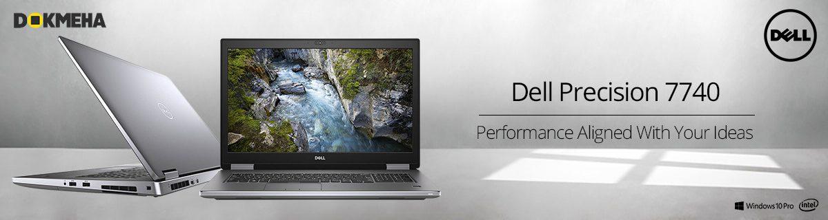 لپ تاپ ورک استیشن دل پرسیشن Dell Precision 17 7740 نمای روبرو با ویندوز 10 اوریجینال