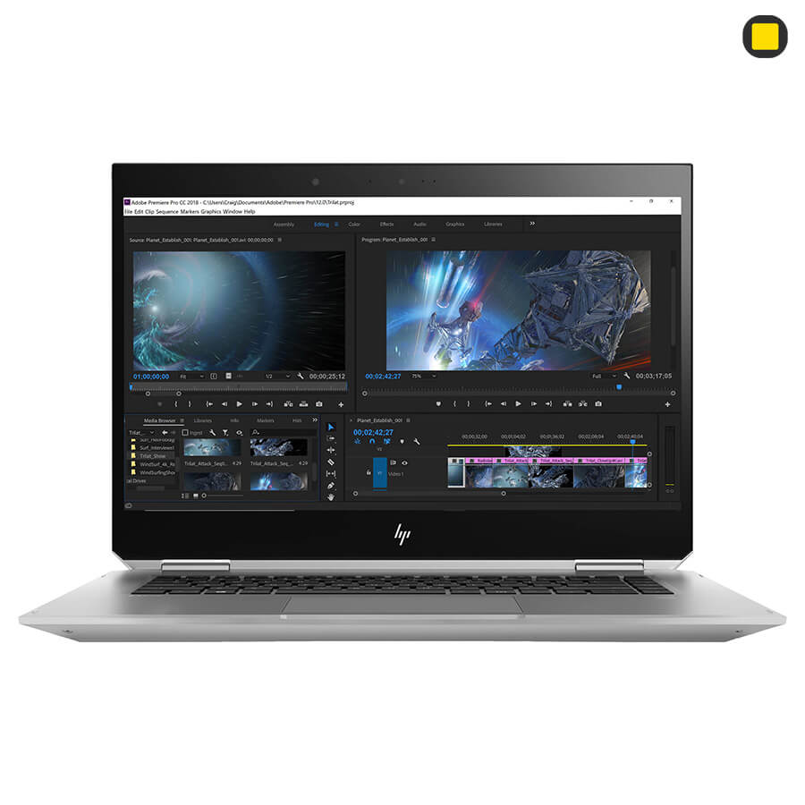 لپ تاپ ورک استیشن اچ پی زدبوک HP ZBook Studio x360 G5 Convertible نمای روبرو